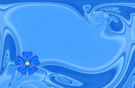 congratulatory: Blue background for card with flower Stock Photo