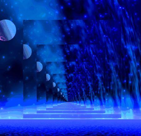 Night. mirage photo