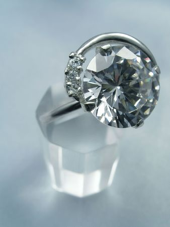 Jeweller ring with diamond