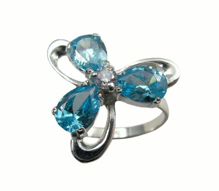 Jewelry ring with sapphire Stock Photo - 408487