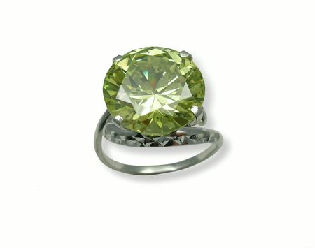 jewelle: Jewelry ring with chrysolite