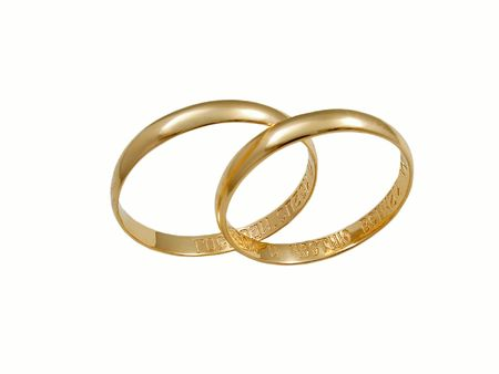 Wedding rings. Isolated on white Stock Photo - 408493