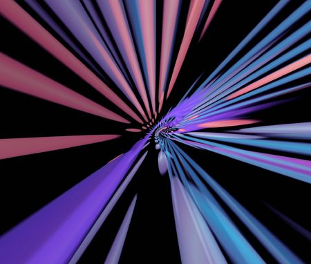 pleat: Multicolor beams Stock Photo