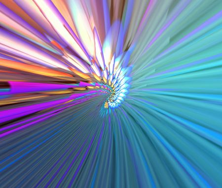 Multicolor abstraction rays photo