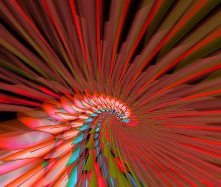 Red abstraction bird. Illustration illustration