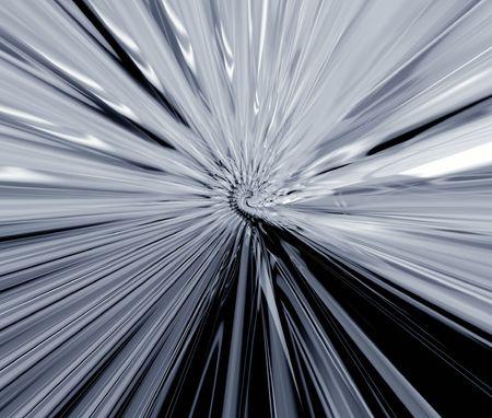 platinum style: Grey metallic rays Stock Photo