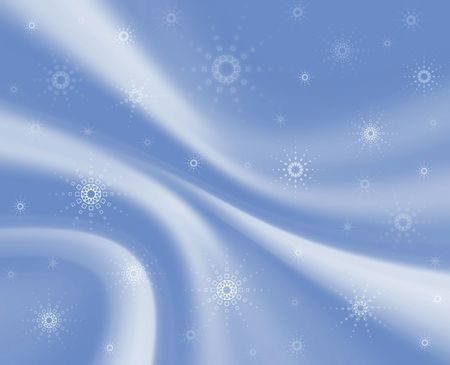 frill: Soft blue drapery background wiht snowflakes