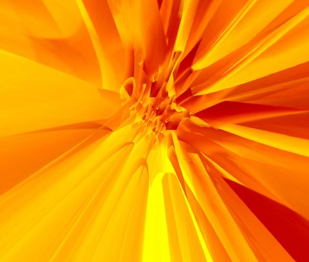 Gold abstraction flower photo