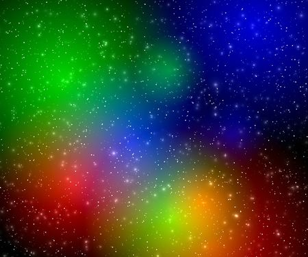 Multicolor flashes in space photo