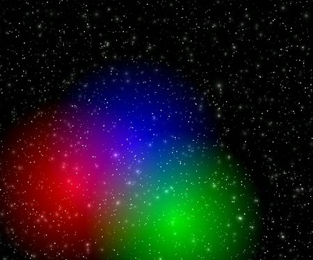 Color flashes in the space photo
