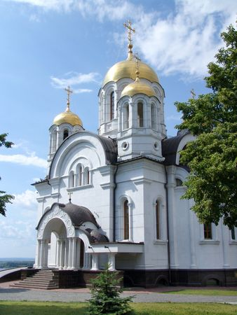 christianity palm sunday:  Christian cathedral in the city of Samara. Russia