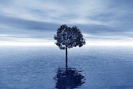 repulse: Lonely tree in water