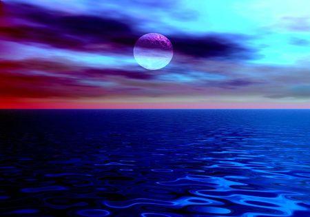 The night sea. photo