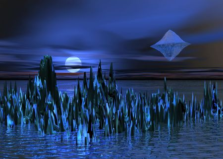 Night. UFO photo