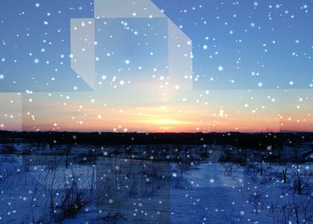 nebulosity: Fantastic landscape Stock Photo