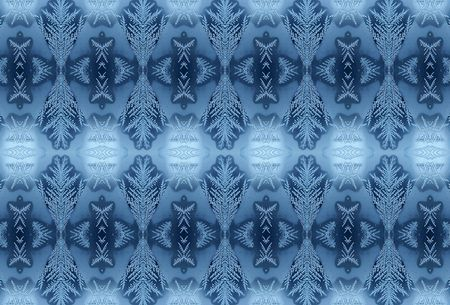 Winter frosty pattern on glass 4 photo