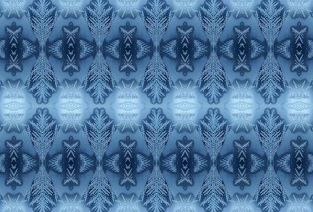 pleat: Winter frosty pattern on glass 4 Stock Photo
