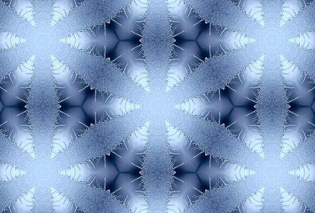 coverbook: Inverno gelido modello su vetro 2 Archivio Fotografico