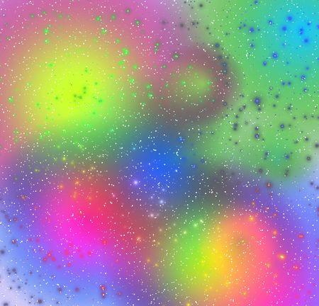 mysticism: Soft rainbow flashes. Stock Photo
