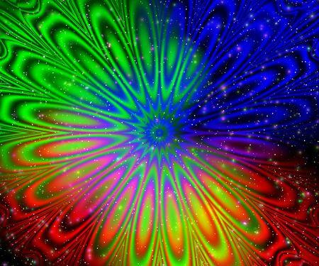 Rainbow pattern. Abstraction flower photo