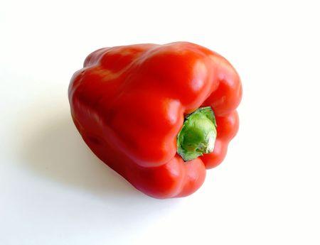 seminal: Paprika on white background