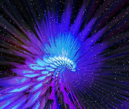 Fairy tale. Neon abstraction bird photo