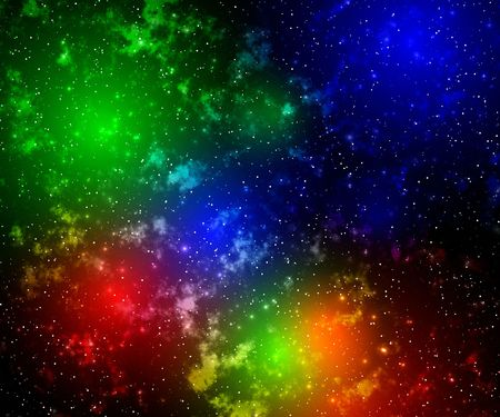 Color glow in space. Abstraction background photo