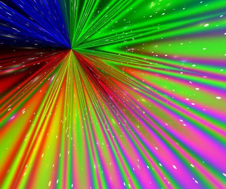 Rainbow rays photo