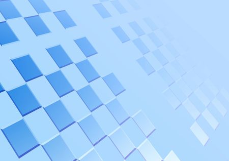 particular: Blue background with squares in  perspective