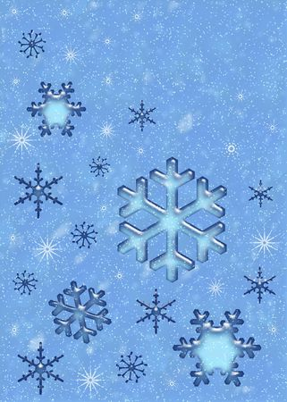 Snow background. Snowflakes photo