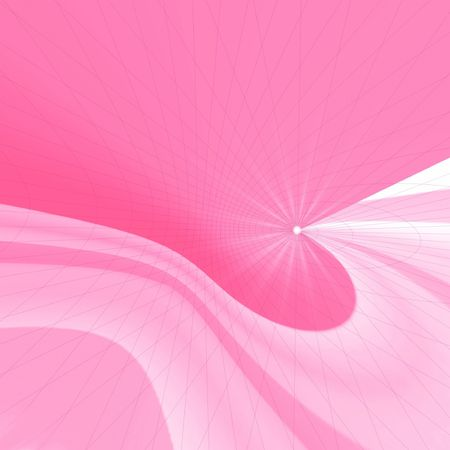 Rosy abstract. Star photo