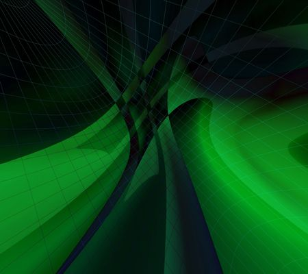 frill: Green glow abstract Stock Photo