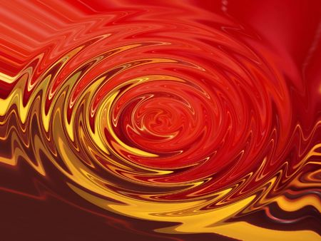 Red-yellow  ripples photo