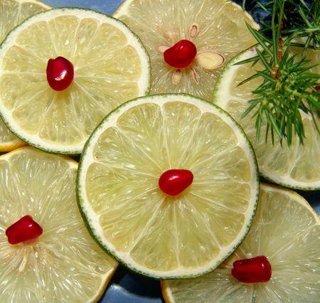 seminal: Limes and lemons Stock Photo