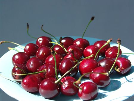 bacca: Juicy cherry Stock Photo