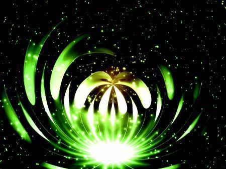 Green fantastic light photo