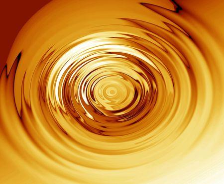 platinum style: Gold ripples Stock Photo