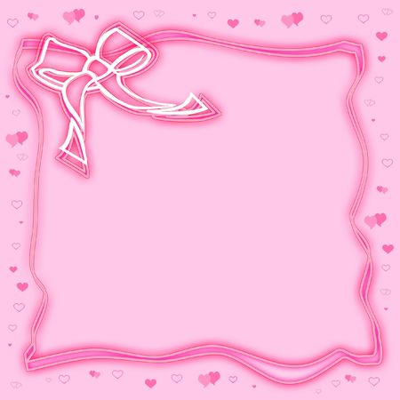 compliments: Pink frame with bow