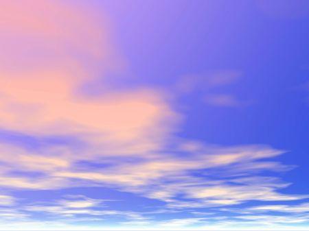 Heavens. Sunset.Illustration illustration