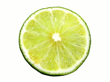 Lime. Isolated on white photo