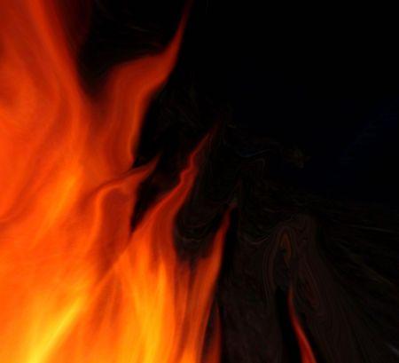 Black fire background Stock Photo