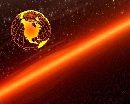 Earth on sunset Stock Photo - 510671