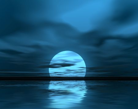 Blue moonlight Stock Photo