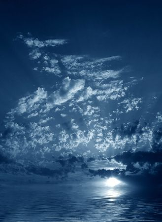 Night clouds and water Stock Photo - 552693