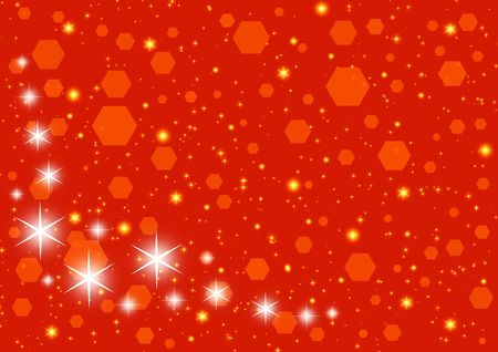 illustrates: Red Christmas starry card Stock Photo