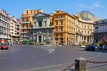 napoli: Italy, Naples, august 26 2008: Italian city Naples, street and historic architecture