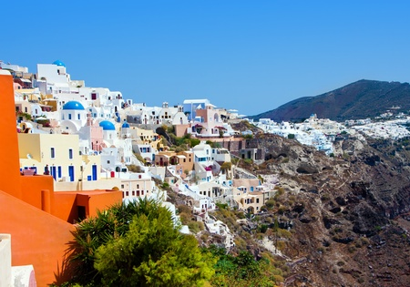 Beautiful Oia village in Santorini island  Greece photo