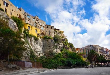 calabria:  Italian city Tropea, area Calabria, street and historic architecture Stock Photo