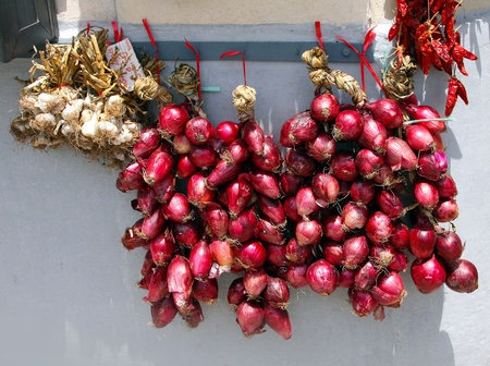 calabria: The south Italy, area Calabria, Tropea city, national food - red onion