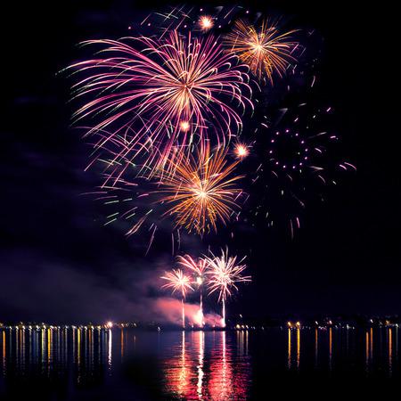 Celebratory bright firework in a night sky Stock Photo - 24065164